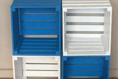 White and blue standard crates Size: 320 x 300 320mm