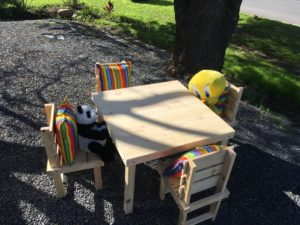 4 seater table and chair set